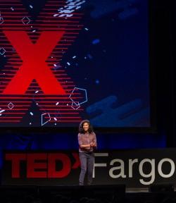 Diane Miller speaking at TEDxFargo / Photo by Dan Francis