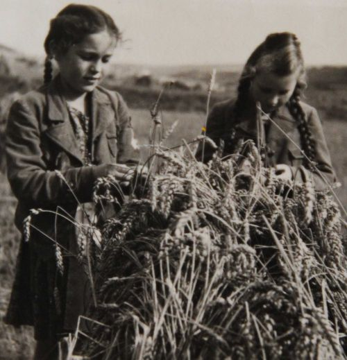 Lore Hornung (left) at the beginning of World War II in Nazi Germany - photograph provided by Lore Hornung
