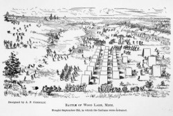 Battle of Wood Lake sketch