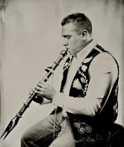 Darren J. Thompson -pipigew- or flue player - wet plate by Shane Balkowitsch