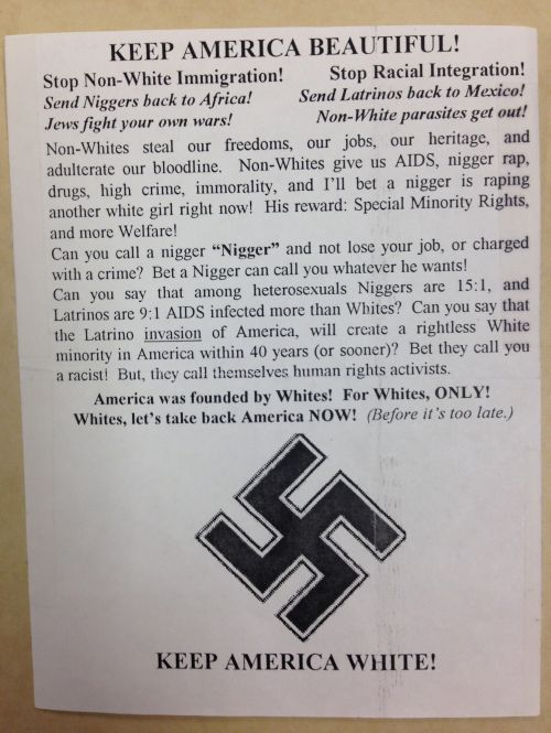 2004 Nazi Pamphlet found at the Hjemkomst Center in Moorhead, MN