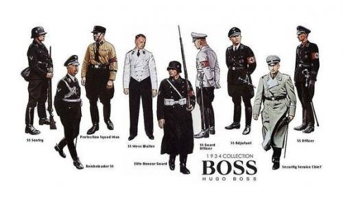 Hugo Boss 1934 Collection of Nazi uniforms drawings