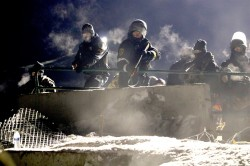 Front lines at DAPL - photo provided by Johnny Dangers