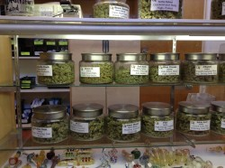 Types of leaf marijuana at Choice Organics, Fort Collins, Colorado - photo provided by Jason Spiess