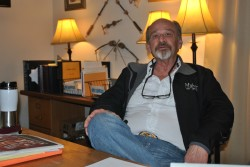 Russell J. Myhre, Valley City attorney in his office - photo by C.S. Hagen