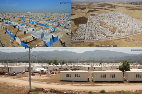 Refugee camps currently in use in Duhok area, Iraq - photo provided by BRHA Duhok