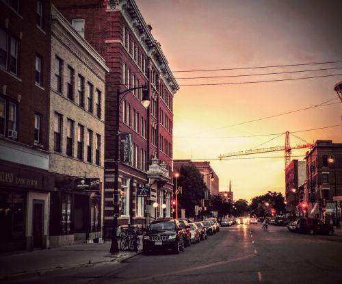 Downtown Fargo, Roberts Street - photograph by Sabrina Hornung