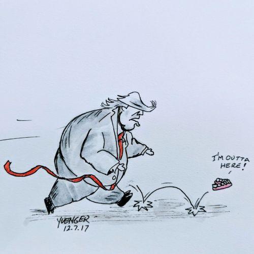 Cartoon courtesy of Daily Trump Cartoon