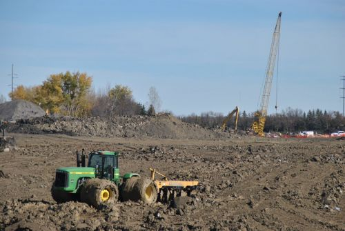 FM Diversion works outside of Oxbow - photograph by C.S. Hagen