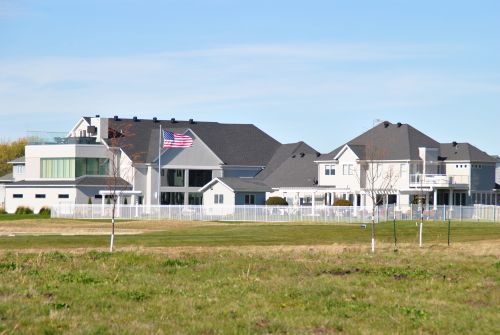 The newly-built Oxbow Country Club - photograph by C.S. Hagen