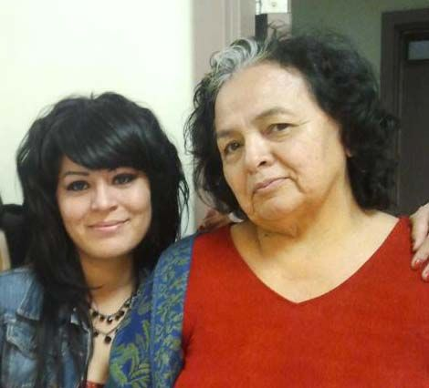 Red Fawn Fallis with her mother Troylynn YellowWood - Facebook