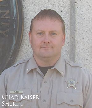 Stutsman County Sheriff Chad Kaiser - photograph provided by Stutsman County Sheriff's Office