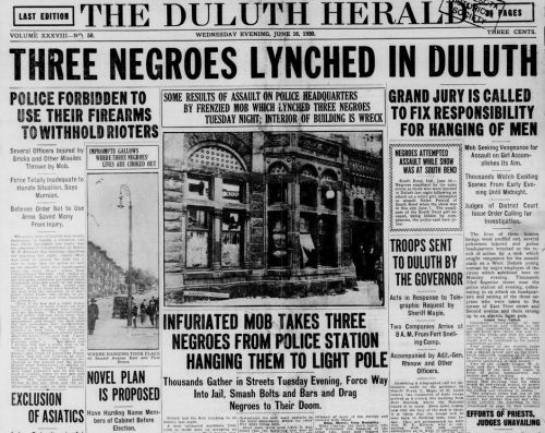 Duluth lynching - The Duluth Herald