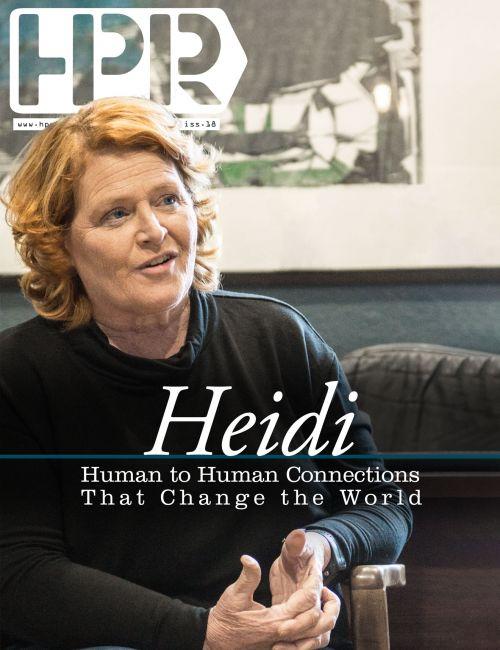 Senator Heidi Heitkamp - photograph and design by Raul Gomez