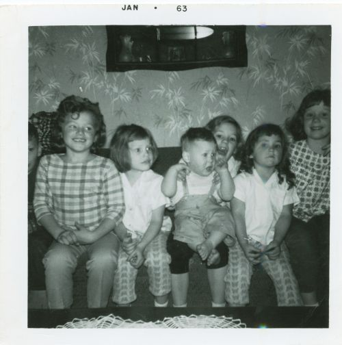 Photograph of Heidi Heitkamp when she was young with siblings - Senator Heitkamp's Office