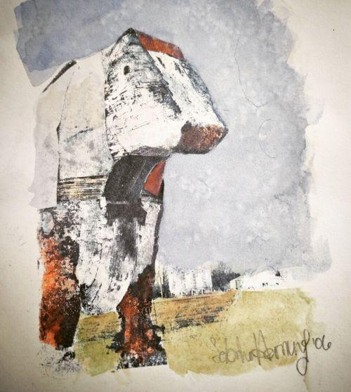 Henry Luehr's Trojan Bull art by Sabrina Hornung