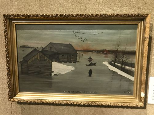 Annie Stein painting of her family farm in the flood of 1897 -  HCSCC