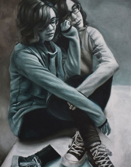 Why We Had to Be Apart, oil painting Scholastic gold key portfolio winner - Janessa Grave