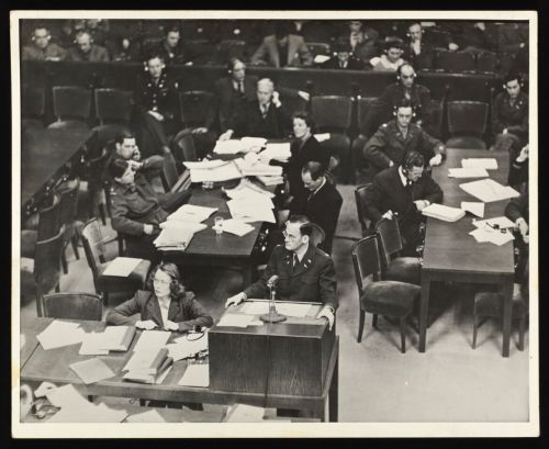 Harriet Zetterberg Margolies during the Nuremberg Trials