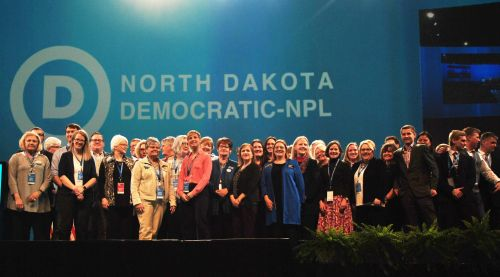 North Dakota Democratic-NPL kicksoff - photograph by C.S. Hagen