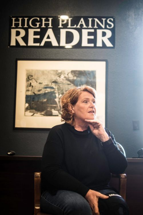 Senator Heidi Heitkamp during interview - photograph by Raul Gomez