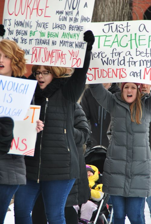 Hundreds of people gathered at the Sanctuary Events Center and then marched through downtown Fargo during the nationwide March For Our Lives event - photograph by C.S. Hagen