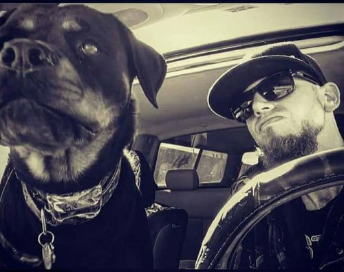 Justin Dietrich and his dog, Harley Bell - Facebook