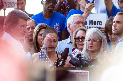 Emma Gonzalez at the Rally to Support Firearm Safety Legislation in Fort Lauderdale