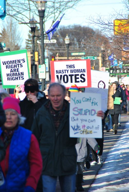 March through downtown Fargo - photograph by C.S. Hagen