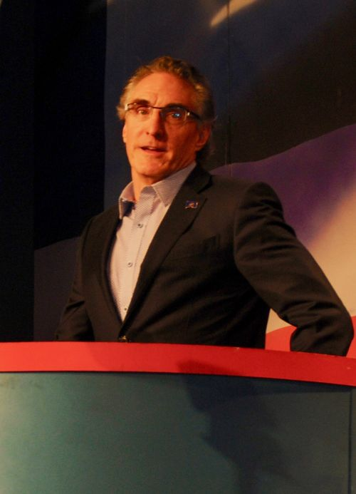 Governor Doug Burgum at the ND GOP Convention - photograph by C.S. Hagen