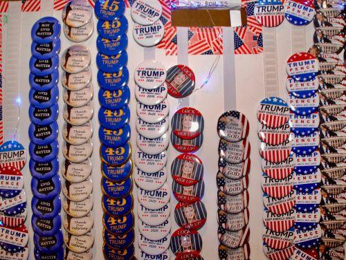 Trump buttons - photograph by C.S. Hagen