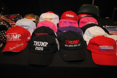 Trump hats at ND GOP Convention - photograph by C.S. Hagen