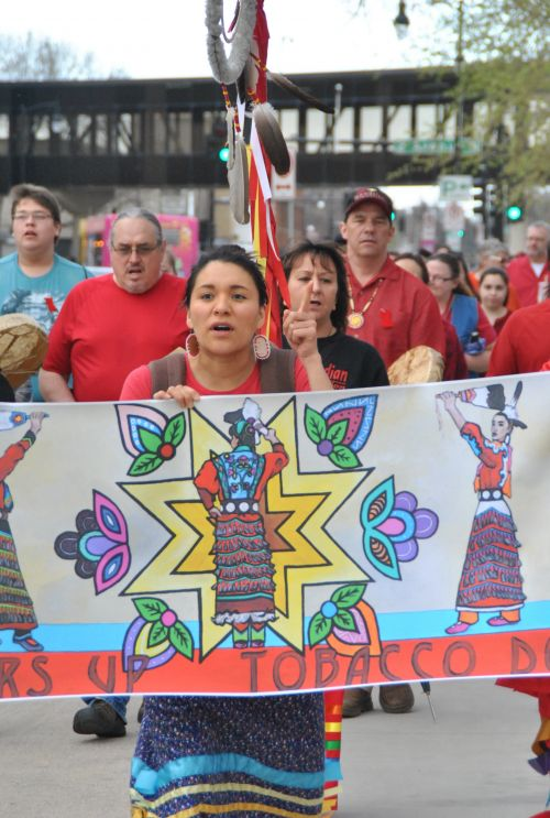MMIW marcher with sign - photograph by C.S. Hagen