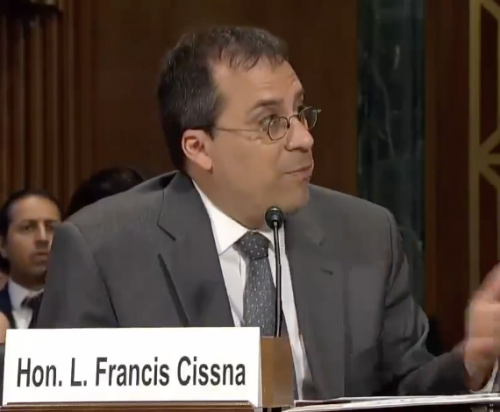 Director of U.S. Citizenship and Immigration Services Tuesday Lee Francis Cissna - snapshot of Senate hearing