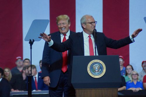 President Trump and Congressman Cramer - photograph by C.S. Hagen