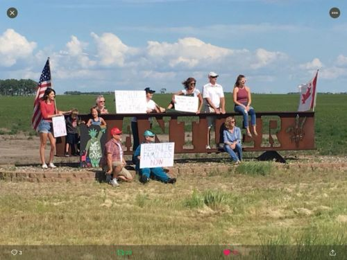 The Antler, ND protest against President Trump's immigratoin policies - photograph used with permission by Karen R. Sanderson