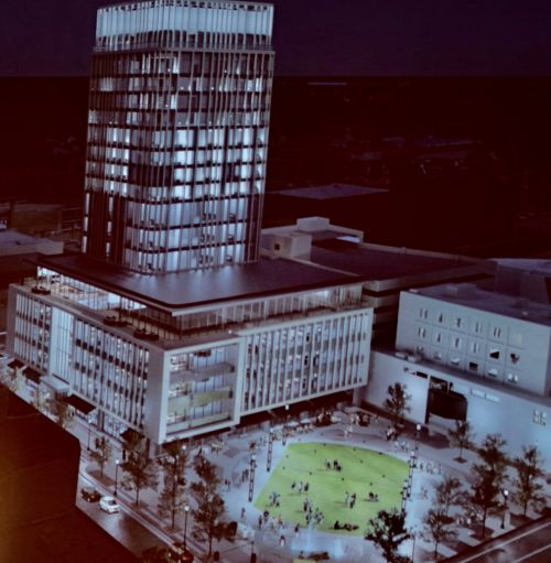 An artist's rendition of what Block 9 will look like after completion - photograph by C.S. Hagen