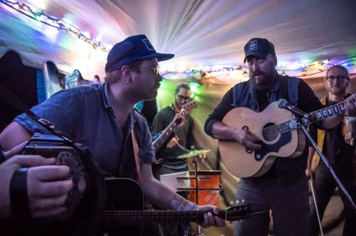 Andrew Neville and Jamie Buckboro at the Juke Joint - photograph by Raul Gomez