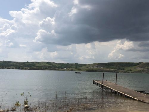 Off Sanish Bay dock across from New Town Marina - photograph provided by Melaine Stoneman