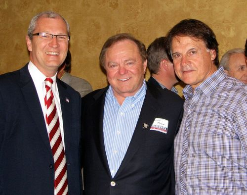 (Left to right) Kevin Cramer, Harold Hamm, and Tony LaRussa, former professional baseball player, June 20, 2012 - Kevin Cramer's Flickr account