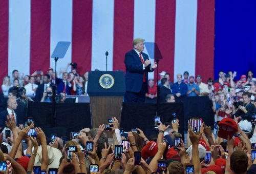 Make America Great Again Rally - photograph by C.S. Hagen
