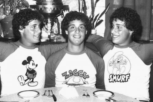 Three Identical Strangers - Eddy Galland, David Kellman, and Bobby Shafran, separated at birth.