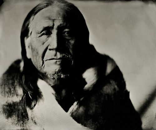 Waylon Black Crow, Sr. - wet plate by Shane Balkowitsch