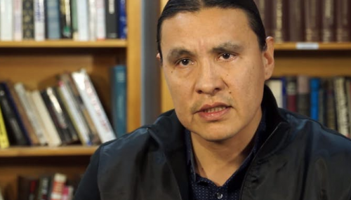 Chase Iron Eyes, a 2016 North Dakota Democratic congressional nominee - YouTube screenshot