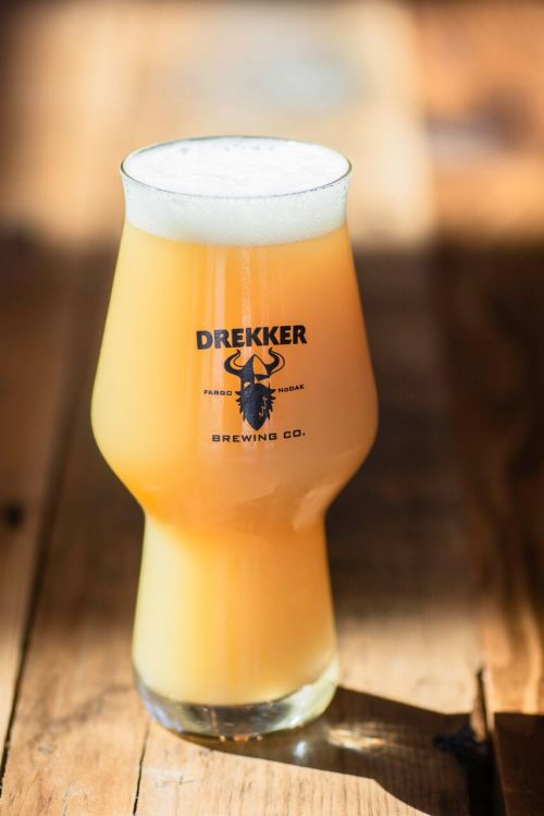 Drekker Brewing Company beer glass - photograph by Logan Macrae