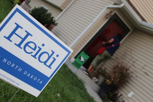 Ruth Buffalo has knocked on more than 3,000 doors since her campaign began - photograph by C.S. Hagen