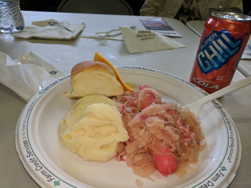 Sauerkraut Day Meal - photograph by Ryan Janke