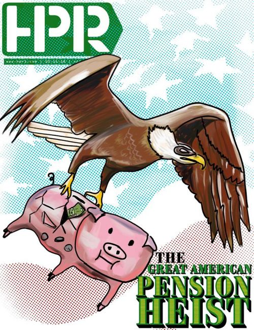 The Great American Pension Heist - design by Raul Gomez