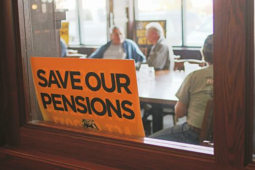 Save our pensions - photograph by C.S. Hagen