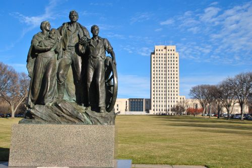 North Dakota State Capitol building - photograph by C.S. Hagen